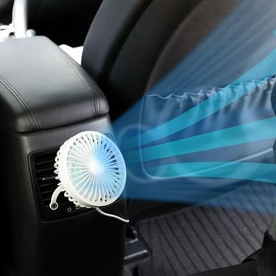 [무아스] 차량용 브릿지 LED 무드등 선풍기