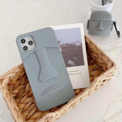 아이폰11 PRO SE2 X 8 모아이 석상 실리콘 폰케이스