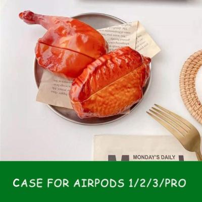 에어팟 PRO/2/1 특이한 닭 바베큐 커플 실리콘 케이스
