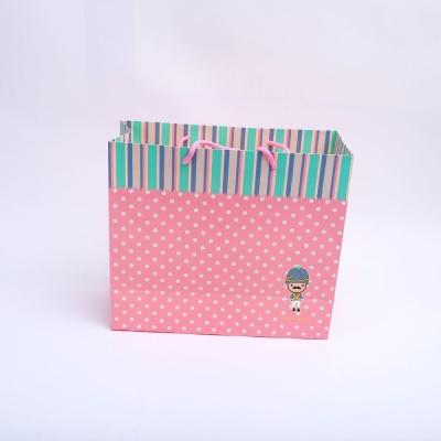 꼬마병정 핑크 대 손잡이 쇼핑 선물 종이 백 가방