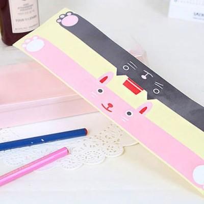 샌드위치 스티커 - 정사각 직사각 겸용 토끼(핑크+블랙)