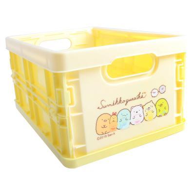 스미코구라시 접이식상자 옐로우 (S) 수납 컨테이너