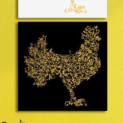 pf929-아크릴액자_황금꽃닭