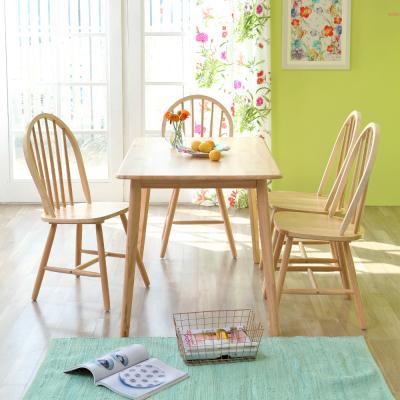 [리비니아]캔버윈저4인용원목식탁세트(의자형)3colors
