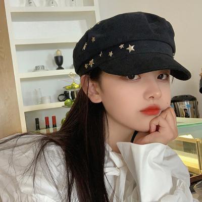 핀츠 여성 팔각모 빵모자 뉴스보이캡 모자