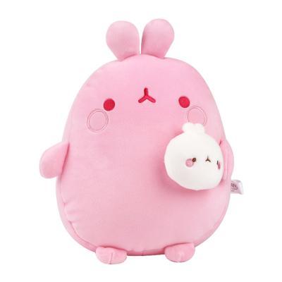 몰랑 피우납작소프트 봉제인형-핑크