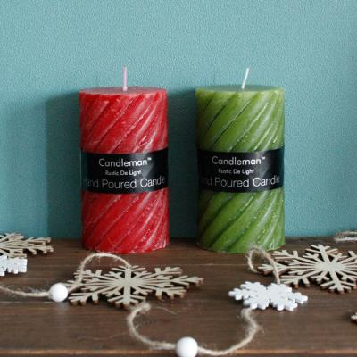 크리스마스 꽈배기 캔들 1P - 2color