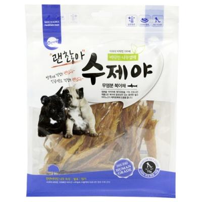 (수제야) 무염분 북어채 70g 비타민열매숙성 (in)