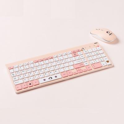 핑구 저소음 무선 키보드 마우스 세트 PMK100