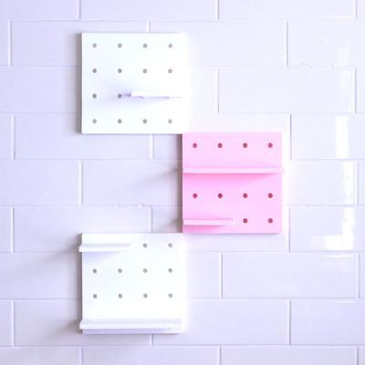 레고형 엔틱선반_화이트2개+핑크1개