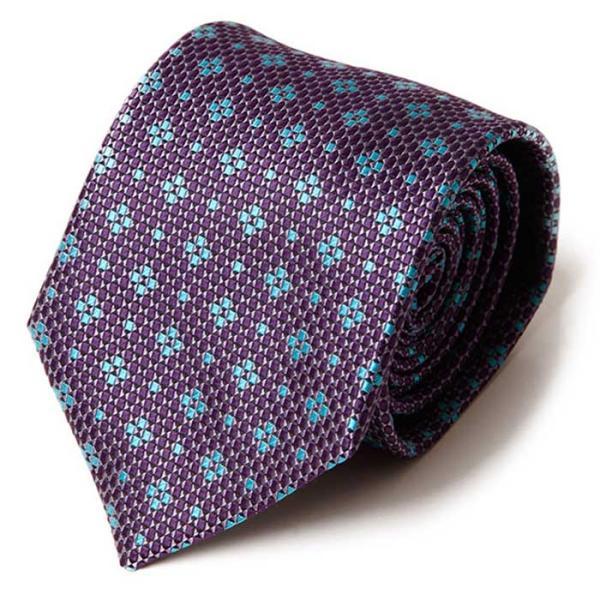 Hombre FLOR Dot purple 수동 넥타이 CH1623713