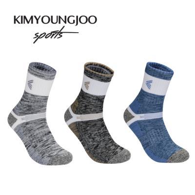 3팩 KYJ 레귤러 하이쿠션 퍼포먼스 남성 골프양말세트
