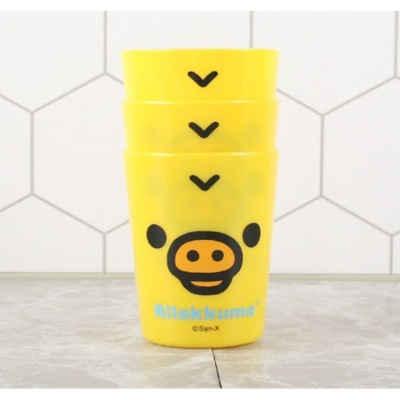 리락쿠마 3P컵(얼굴) 옐로우