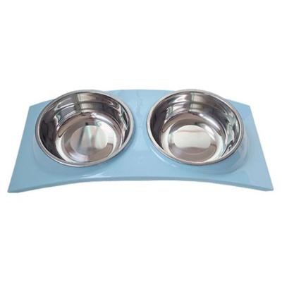 우쭈쭈 강아지 급식기 뉴슬링 스텐레스 식기 블루