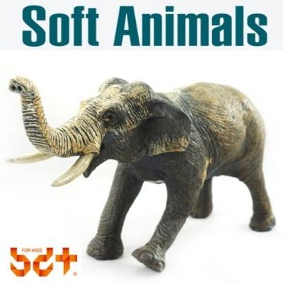 반디 코끼리 말랑말랑 소프트피규어 동물모형완구