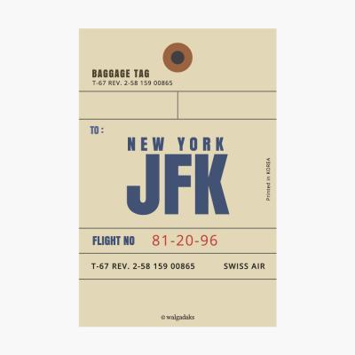 에어라인택 포스트카드 엽서 - New York