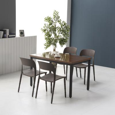 멜로우 1200 스틸 카페 테이블