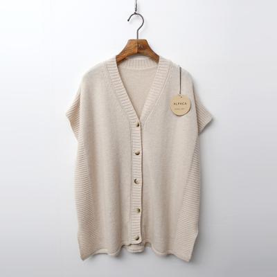 Alpaca Wool Poncho Vest - 반팔