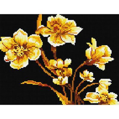 황금꽃 (캔버스형) 보석십자수 30x40