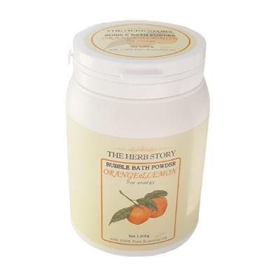 더허브스토리 오렌지&레몬 버블바스 파우더(대용량)
