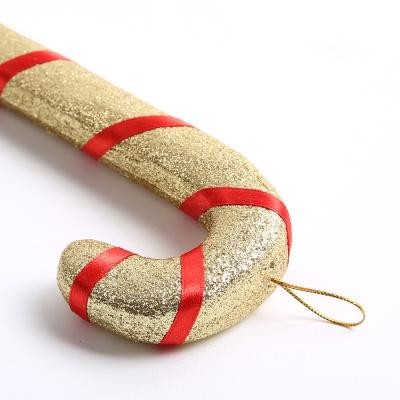 트리장식 반짝이 지팡이 25cm - 골드