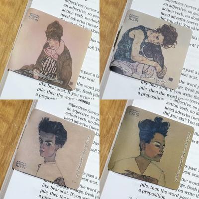 [수지인] 에곤 쉴레 명화_자동책갈피 4종 세트