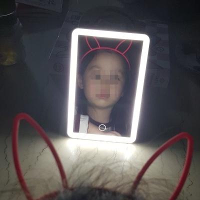 센시엠 휴대용 여행용 탁상용 LED 화장 거울