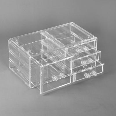 투명 액세서리 보관함 3단4칸 화장품수납함 아크릴