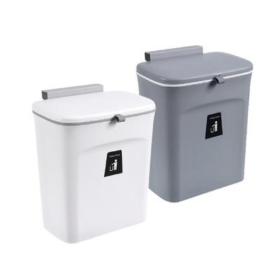 걸이형 슬라이드 캡 다용도 쓰레기통 /주방용쓰레기통