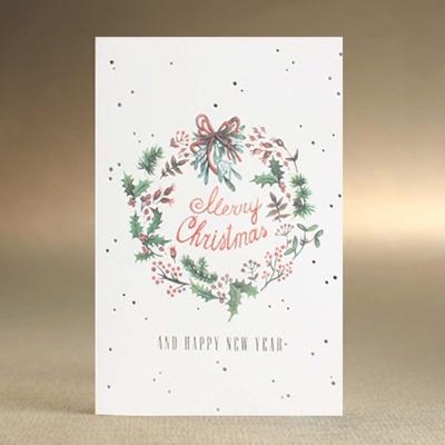 따뜻한 겨울 분위기 감성을 담은 크리스마스 카드