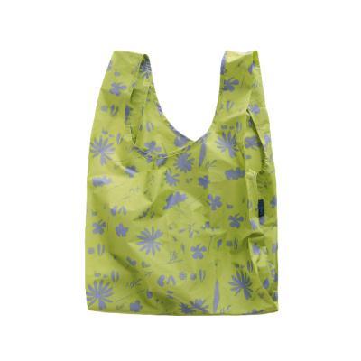 [바쿠백] 장바구니 시장가방 Floral Sun Print Lime