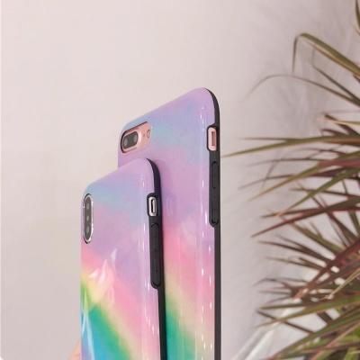 아이폰 XR XS맥스 8 7 무지개 그라데이션 젤리 케이스