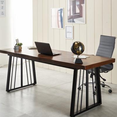 폭600 일자형 1600 우드슬랩 책상 컴퓨터책상