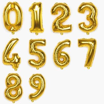 골드 은박 숫자풍선 연말파티용품