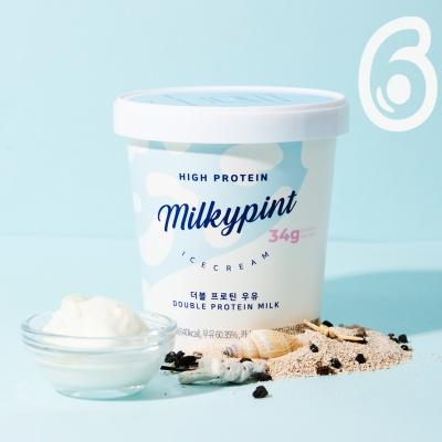 밀키파인트 더블 프로틴 우유 6개입