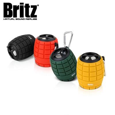 브리츠 휴대용 블루투스 스피커 BZ-G100 GRAB (통화가능 마이크내장 / MicroSD 메모리카드 재생 / 생활 방수 / MP3 & 스마트폰폰 등 외부연결 AUX 단자)