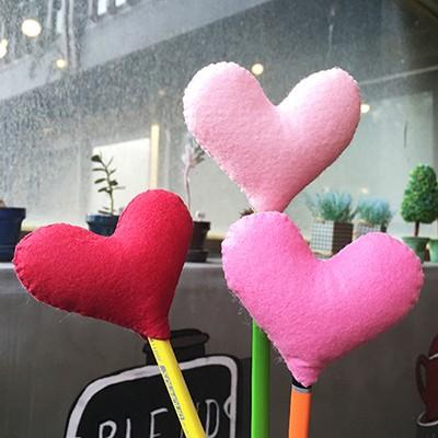 [diy] heart pencil topper-pink type