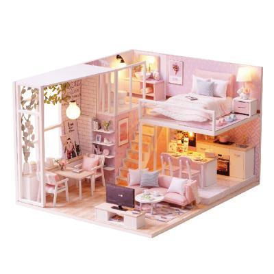 [adico]DIY 미니어처 하우스 - 핑크하우스