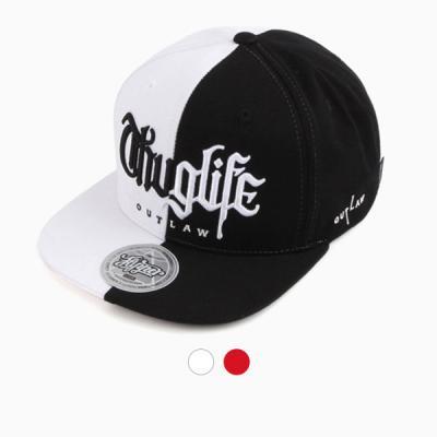 [디꾸보]하프 배색 레터링 스냅백 모자 ALL51