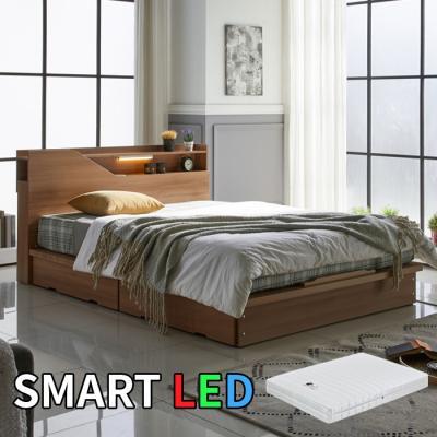 스마트 LED 서랍 침대 퀸(독립스프링매트) KC173Q