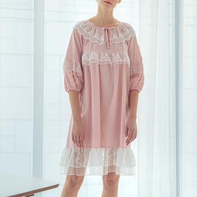 Angel 2단 레이스 원피스 잠옷