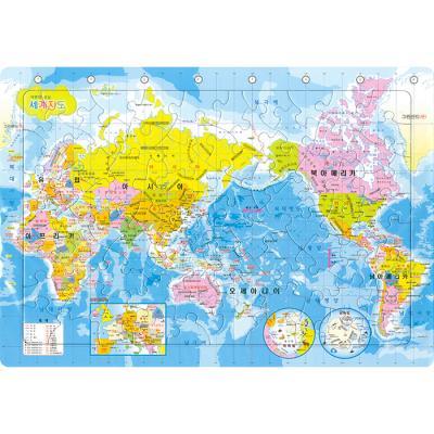 80조각 판퍼즐 - 세계지도