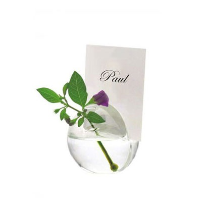 Glass Round Vase Notes Hoder