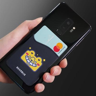 베어버스 부착형 파우치 핸드폰 실리콘 카드케이스