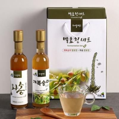 와송와개복숭아를500일이상항아리발효한발효청세트
