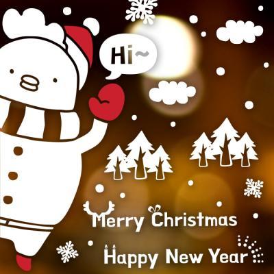 제제데코 크리스마스 눈꽃 스티커 장식 CMS4J229