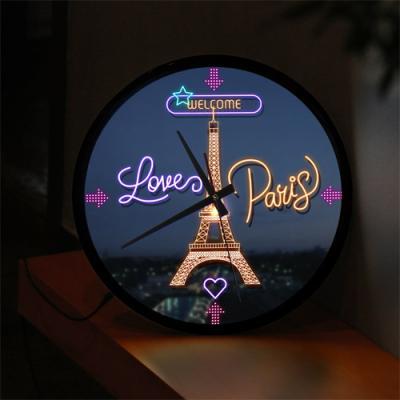 ng139-LED시계액자35R_파리에오신걸환영합니다