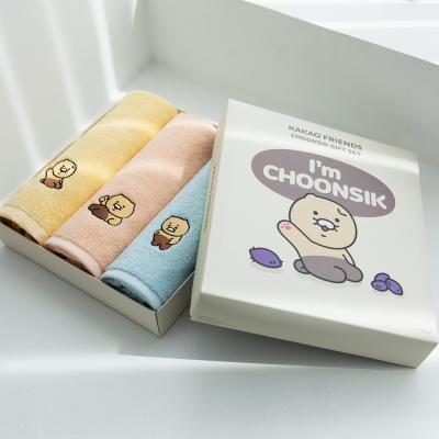 카카오프렌즈 춘식이 세면타월 30수 150g 3매 박스