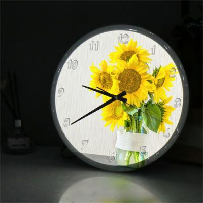 ng554-LED시계액자35R_밝은기운해바라기