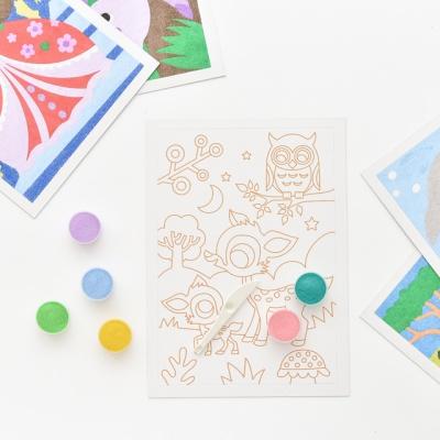 센토스피어 DIY 샌드아트 그리기, 색모래 컬러링